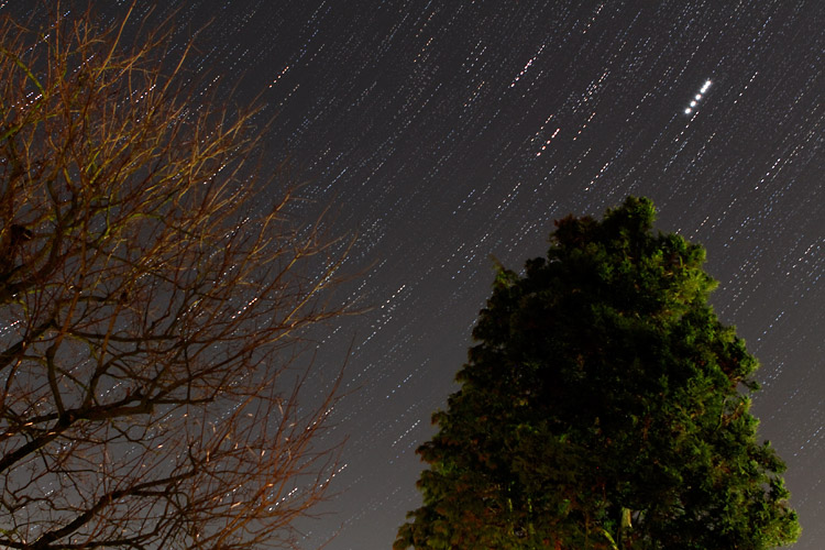 Star trails with hiccup
